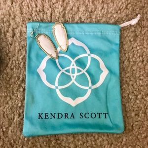 White Kendra Scott earrings